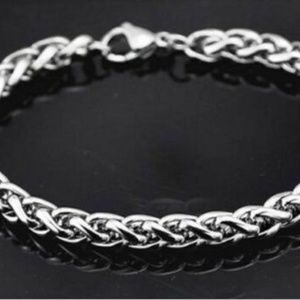 NEW Mens Silver Stainless Steel Bracelet